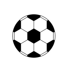 Soccer ball icon football isolated on white vector
