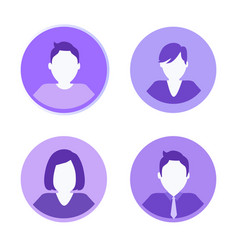 social network people icons vector image