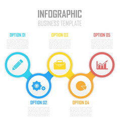 Template circle infographic with arrows vector