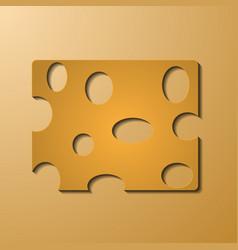 Triangular piece cheese cheese icon 3d cheese vector