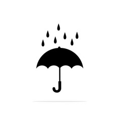 umbrella and rain icon concept for vector image