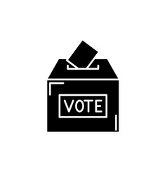 vote black icon sign on isolated vector image
