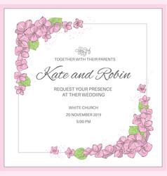 wedding invite wedding set vector image