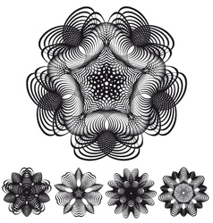 Abstract geometric flowers vector image vector image