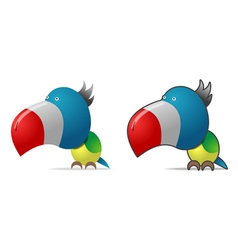 Color parrot vector image vector image