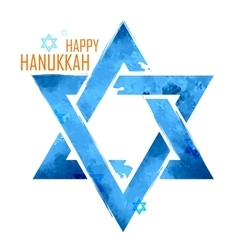 Happy Hanukkah Jewish holiday background with vector image vector image