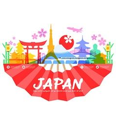 Japan Travel Landmarks vector image