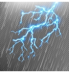 Rain and a lightning EPS 10 vector image