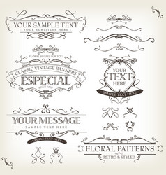 vintage old labels banners and frame vector image vector image