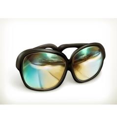 Black sunglasses icon vector image