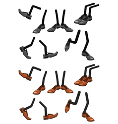 Cartoon character foots in shoes vector image