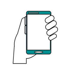 electronic cell phone on vector image