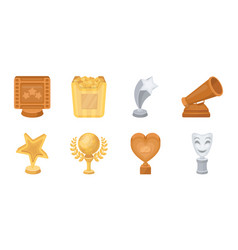 film awards and prizes icons in set collection for vector image vector image