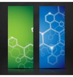 Molecule Abstract Banner vector image