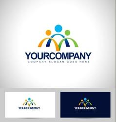 People Logo Design vector image vector image