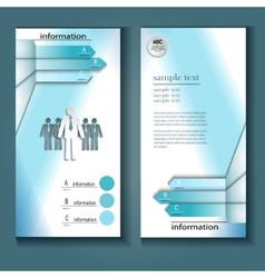information flyer vector image vector image