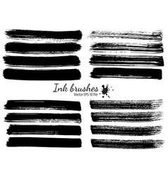 Ink brushes vector image vector image