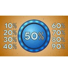 Jeans sale percent label vector image