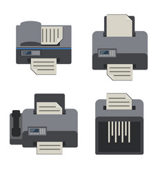 office electronics flat icons set vector image