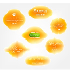 Orange Sticker Set vector image vector image