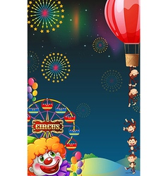 A circus show at the carnival vector image vector image