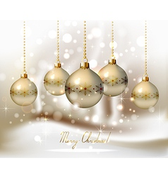 elegant glimmered Christmas vector image vector image