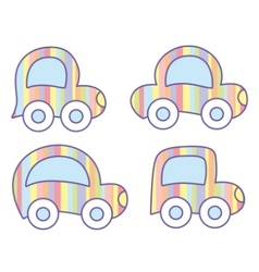 pastel cars vector image vector image