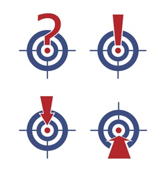 target with marks and arrows vector image vector image