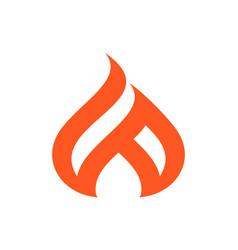 abstract fire concept logo icon design vector image