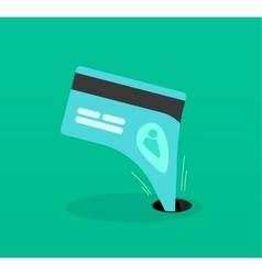 Abstract identity theft business fraud money vector image