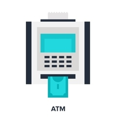 atm flat concept vector image