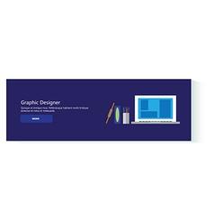 banner graphic designer vector image