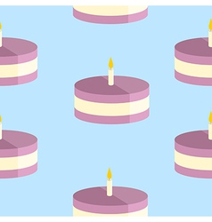 Birthday cake pattern vector