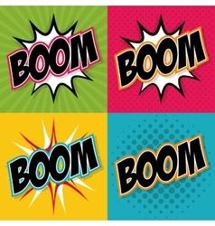 Boom icon pop art design graphic vector