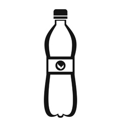 Bottle of water icon simple style vector