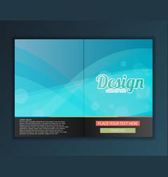 Brochure flyer design template vector