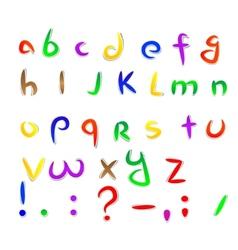 Cartoon paper font vector