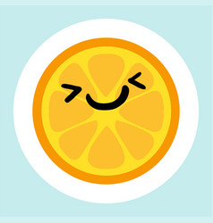 cheerful smiling lemon vector image