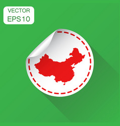 china sticker map icon business concept china vector image