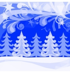 Christmas Low Poly Background Winter Forest vector
