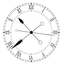 Clock old and unique black vector
