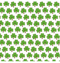 Clover patricks day icon vector