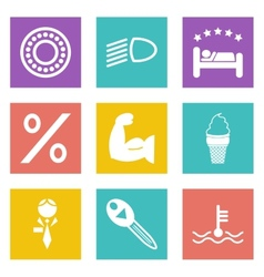 Color icons for Web Design set 34 vector image