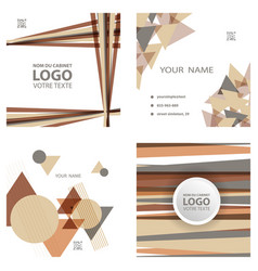 Colorful geometric background simple shapes vector