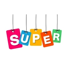Colorful hanging cardboard Tags - super vector