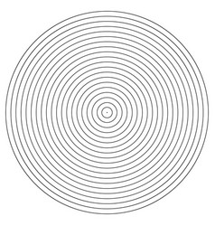 concentric circle element black and white color vector image