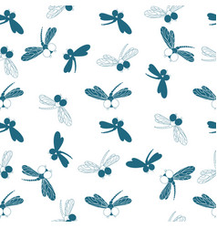 dragonfly design of packing paper wallpaper vector image