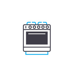 electric stove linear icon concept electric stove vector image
