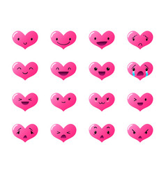 Emoticons heart gradient vector