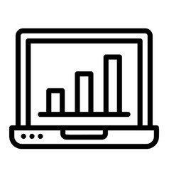 finance laptop icon outline style vector image